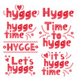 hand drawn scandinavian lettering hygge lifestyle vector image