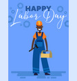 happy labor day poster design with an african vector image vector image