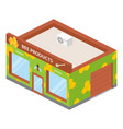 honey shop icon isometric style vector image