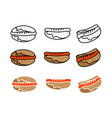 hotdog food symbol icon icon template ready for vector image