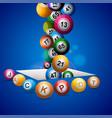 jackpot bingo lottery balls falling in a hole