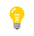 light bulb icon flat style vector image