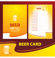 menu beer card vector image