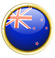 new zealand flag on round frame vector image vector image