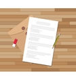 paper test document with checklist and pencil vector image
