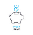 piggy bank concept outline icon linear sign vector image