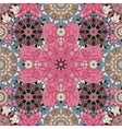Pink Mandala Background for greeting card vector image