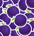 Plums seamless background vector image vector image