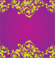 Purple Floaral Design vector image