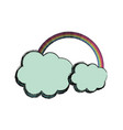 rainbow with cloud vector image