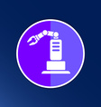 robotic production icon button logo symbol concept vector image vector image
