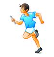 Runner boy vector image vector image