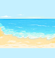 sea with waves and sandy beach vector image vector image