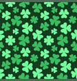 seamless bright clover background vector image vector image