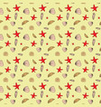 Seamless pattern of seashells marine background vector image