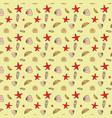 seamless pattern of seashells marine background vector image
