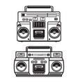 set of boombox on white background design element vector image