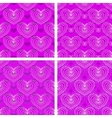 Set of heart patterns vector image vector image