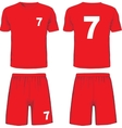 set soccer uniform front and back view vector image