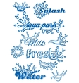 set template with elements water vector image