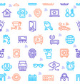 smart home signs seamless pattern background vector image