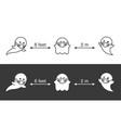 social distance halloween party cute line vector image vector image