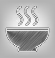 soup sign pencil sketch imitation dark vector image