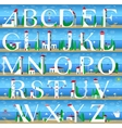 Summer Alphabet Cute Sea Town vector image