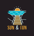 summer vacation concept design with sunset vector image vector image