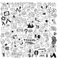 thinking psychology sick people -big doodle set vector image