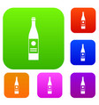 wine bottle set collection vector image vector image
