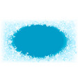 winter frosted window vector image vector image