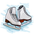 womens figure skates vector image vector image