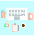 Workspace in light colors vector image