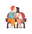 young couple in love on movie date in cinema vector image vector image