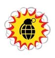 hand grenade Explosion vector image
