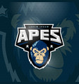 sport apes abstract sign emblem or logo vector image