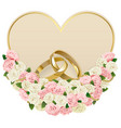 Wedding Card with Rings vector image