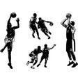 basketball sketch set vector image