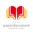book document lesson studies dictionary icon vector image