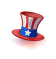 american hat independence day isolated vector image