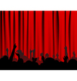 curtain background vector image