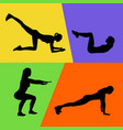 abstract of fitness exercises vector image vector image