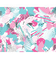 abstract seamless pattern with chaotic lines and vector image vector image