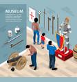 ancient warriors museum background vector image vector image