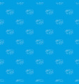 ant pattern seamless blue vector image