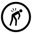 Backache Rounded Grainy Icon vector image vector image