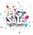 Big sale paper poster vector image vector image