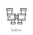 binocular doodle vector image vector image