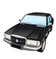 black retro car vector image vector image
